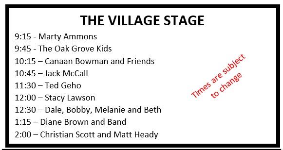 Village Stage Schedule